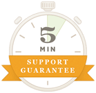 5 Minute Support Guarantee